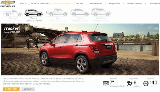 Fotos Chevrolet Tracker