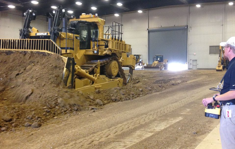 Tractor D11T Caterpillar Demostration, Edwards Center, Peoria