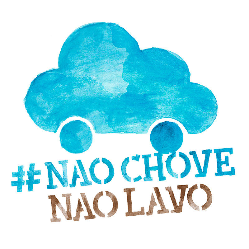 #NãoChoveNãoLavo campanha de The Nature Conservancy.